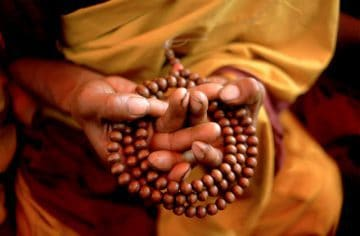 Mandala Nudra Prayer Beads, India 1974