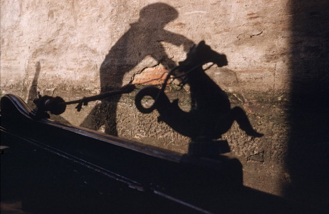 •Shadow Gondolier, Venice 1955