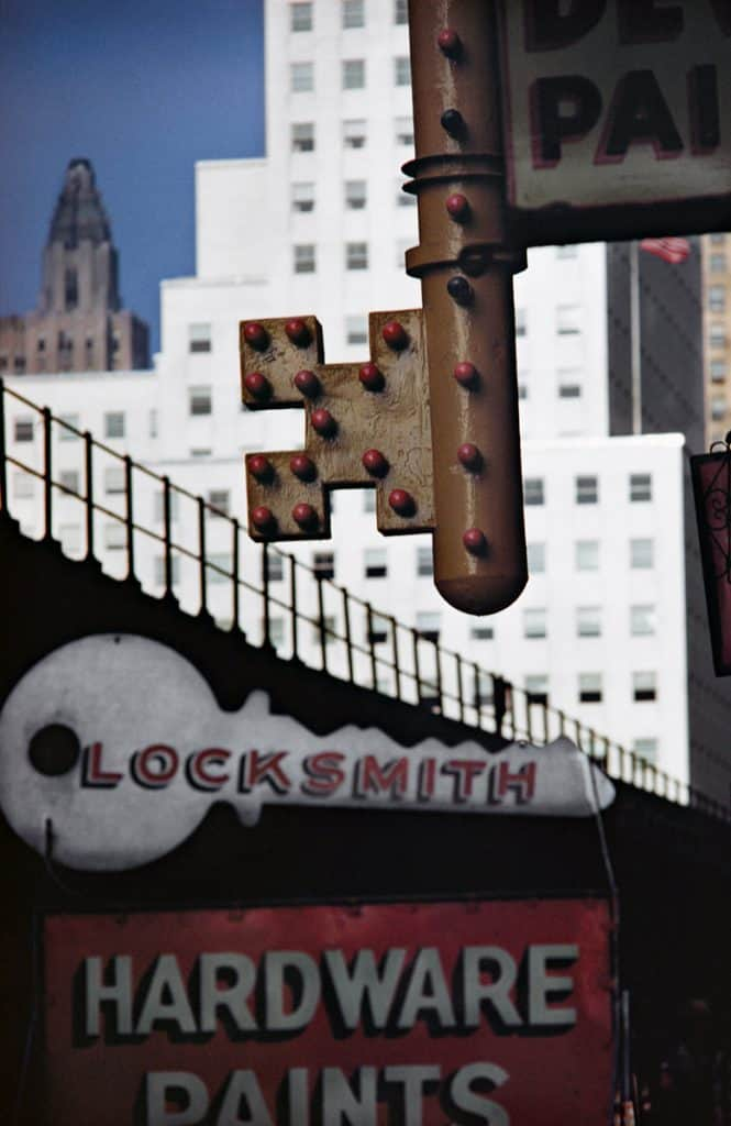 Locksmith Sign, NY 1952