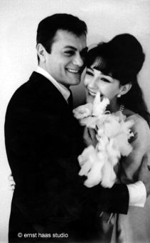 Tony Curtis on his wedding day