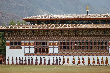 Procession, Coronation Day, Bhutan 1974