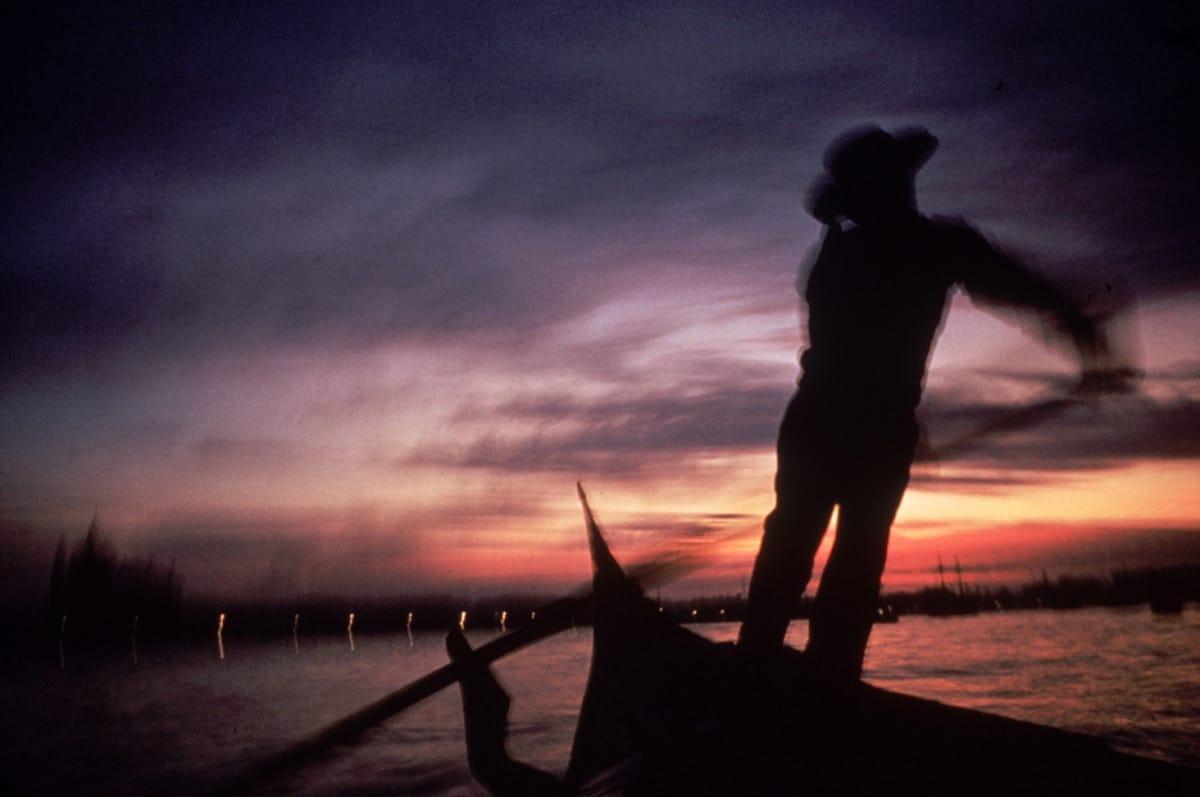 Gondolier at Dusk, Venice 1971